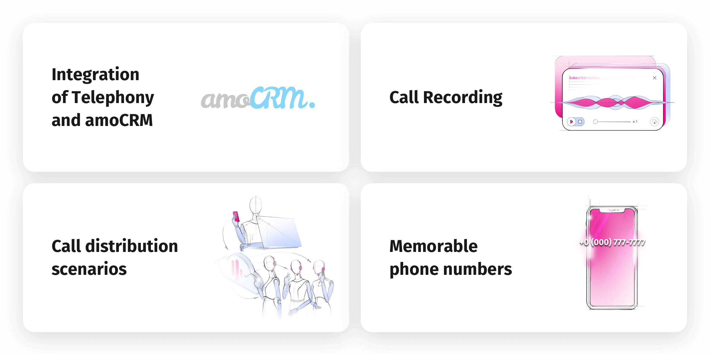 CallGear Features Implemented